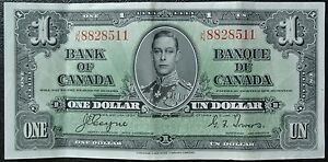 BANK-OF-CANADA-1937-1-BANK-NOTE-Prefix-J-N-Signed-Coyne-amp-Towers