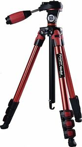 Fotopro S3 Sporty & Fashionable Red Color Tripod For DSLR Cameras 3-Way Head