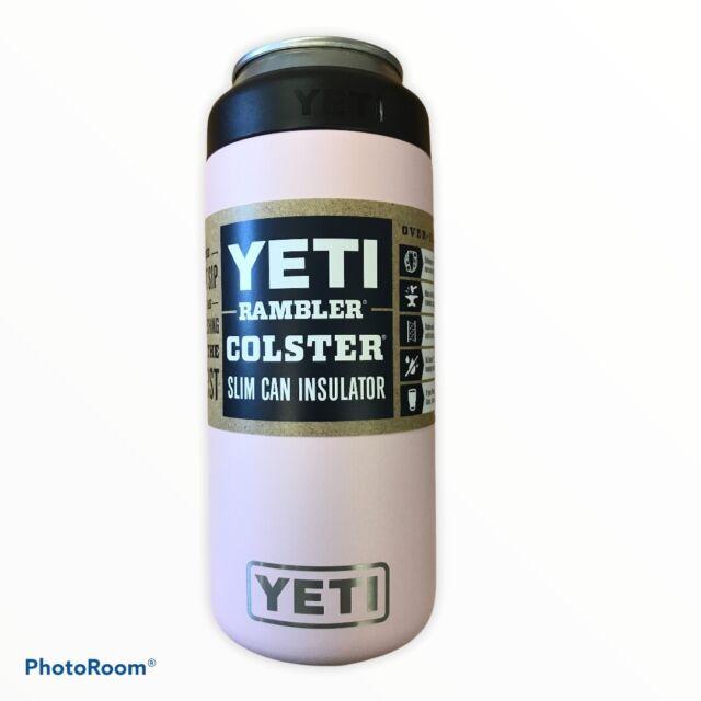 YETI Rambler Colster Slim Can Insulator Koozie Ice Pink