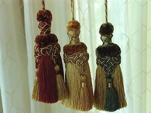 SET-OF-TWO-6-1-2-034-Superb-Quality-Key-Tassels-CHOICE-of-THREE-COLORS
