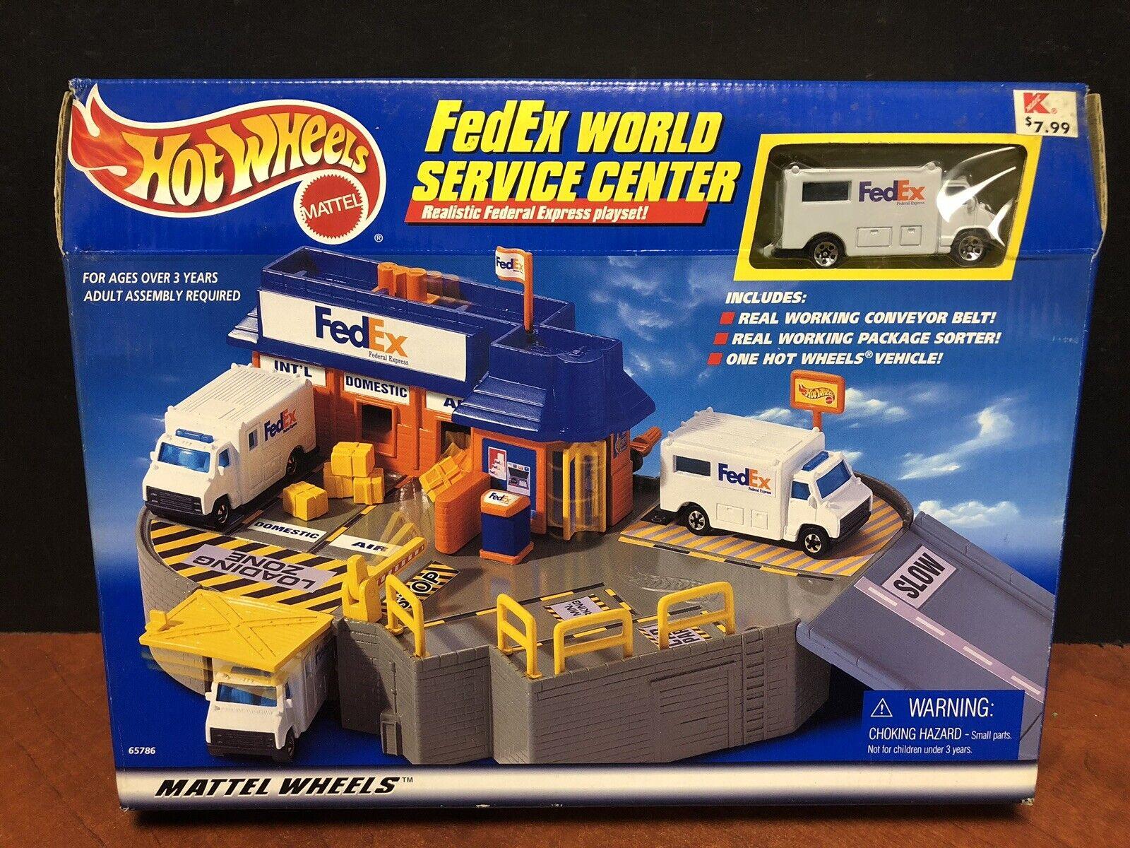 Hot Wheels 1998 Fedex World Service Center Playset Factory Sealed Dela1311