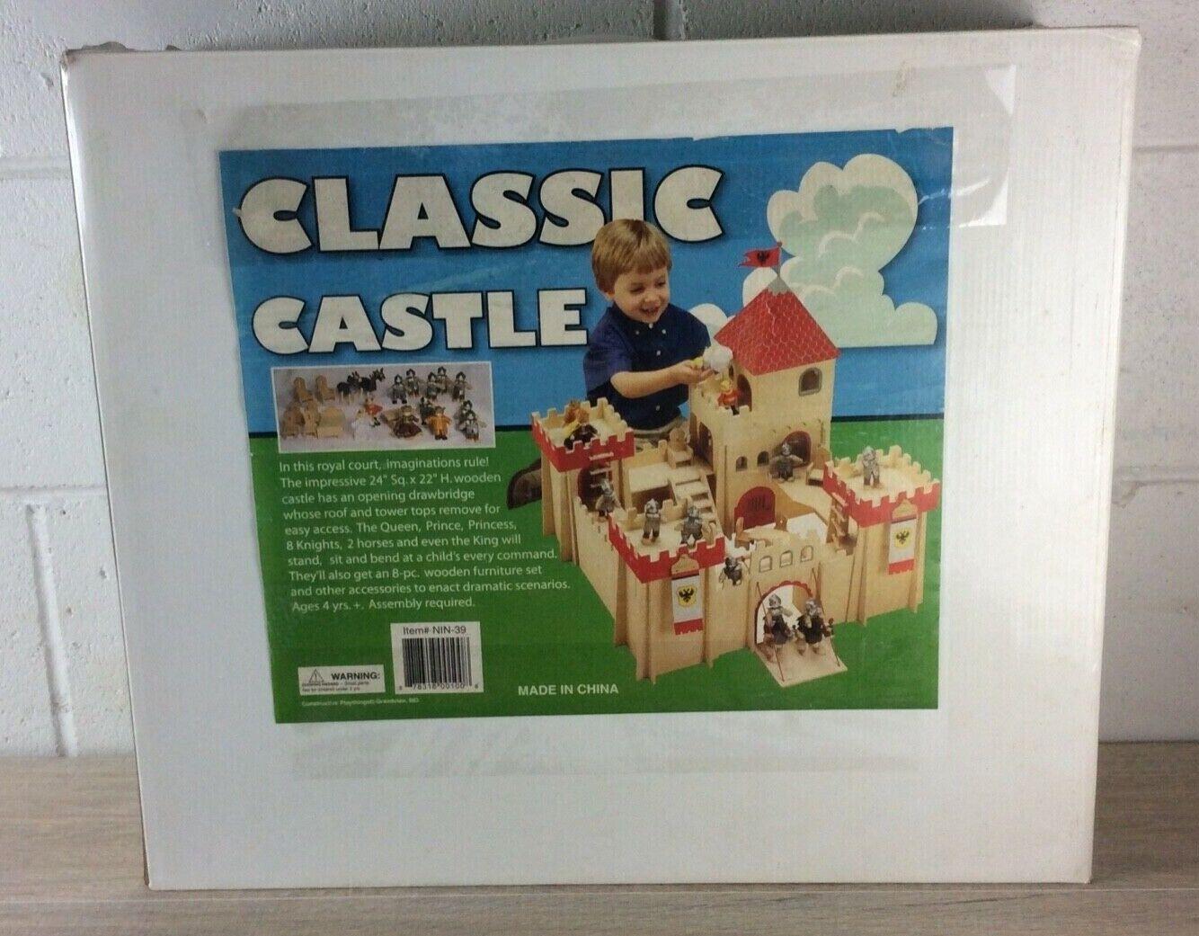 新しい古典的な城の木製のセットセットキングスクイーン騎士、家具ペン先