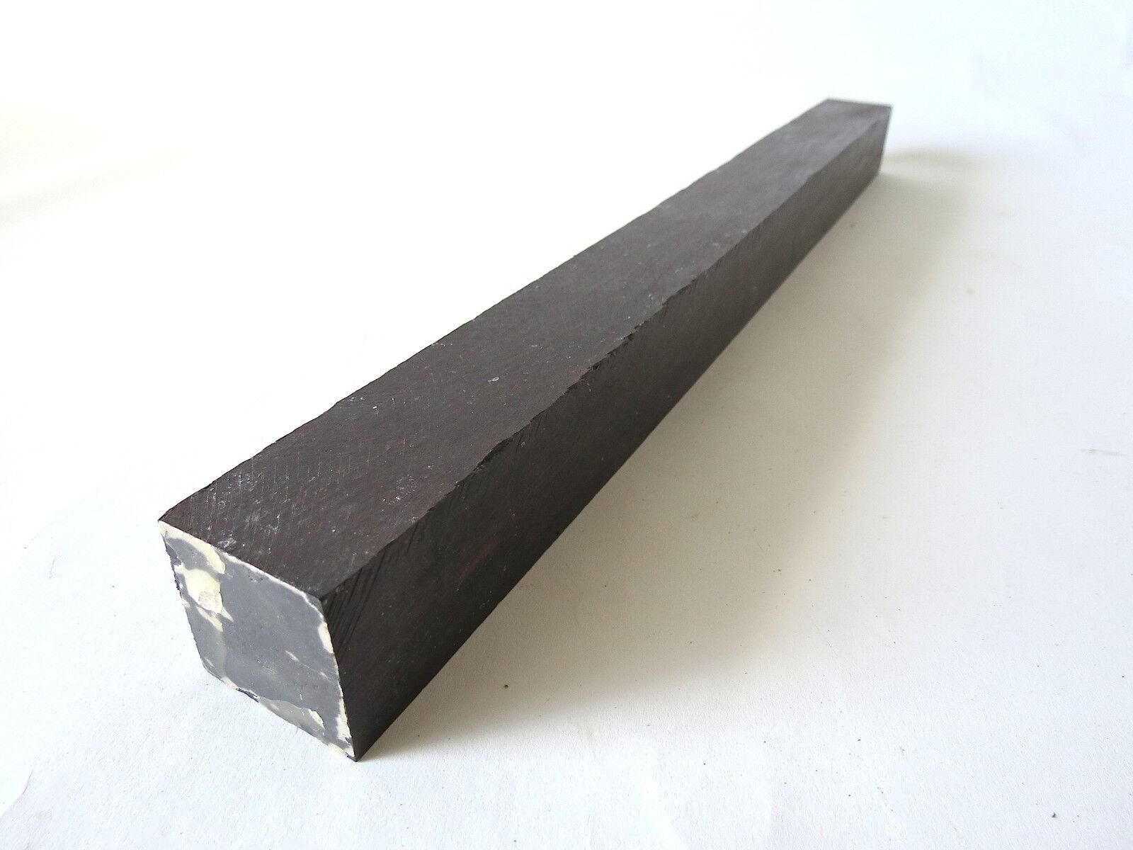 African Blackwood Turning Square Lathe Blank Exotic Wood 1-1/8 x 1-1/8 x 19