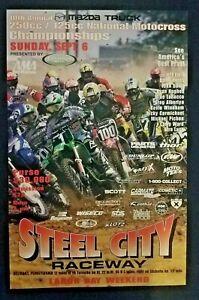 Vintage Steel City National Poster 1998 Motocross Jeff Emig Ricky Carmichael