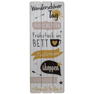 Shabby-Dekoschild-Wandschild-Schild-Landhaus-Holz-Wunderschoener-Tag-80-x-30-cm