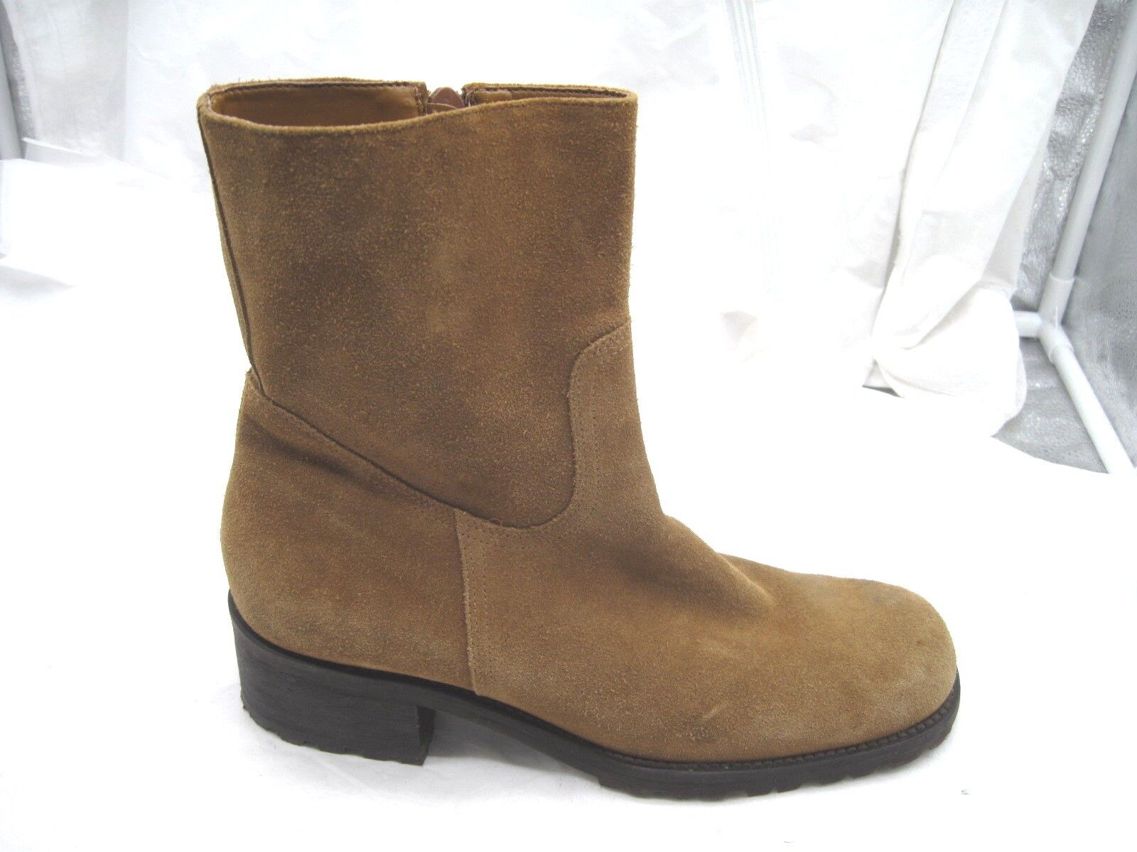Eddie Bauer size 8M Brown suede ankle zip up boots womens ladies Boots shoes