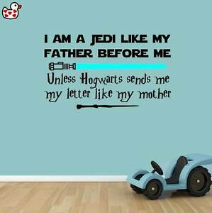 Image Is Loading Jedi Harry Potter Style Quote Wand Lightsaber Vinyl  Part 80