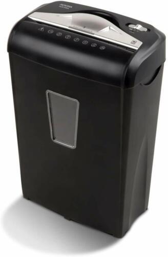 Aurora Au870Ma High-Security 8-Sheet Micro-Cut Paper Credit Card Shredder Black