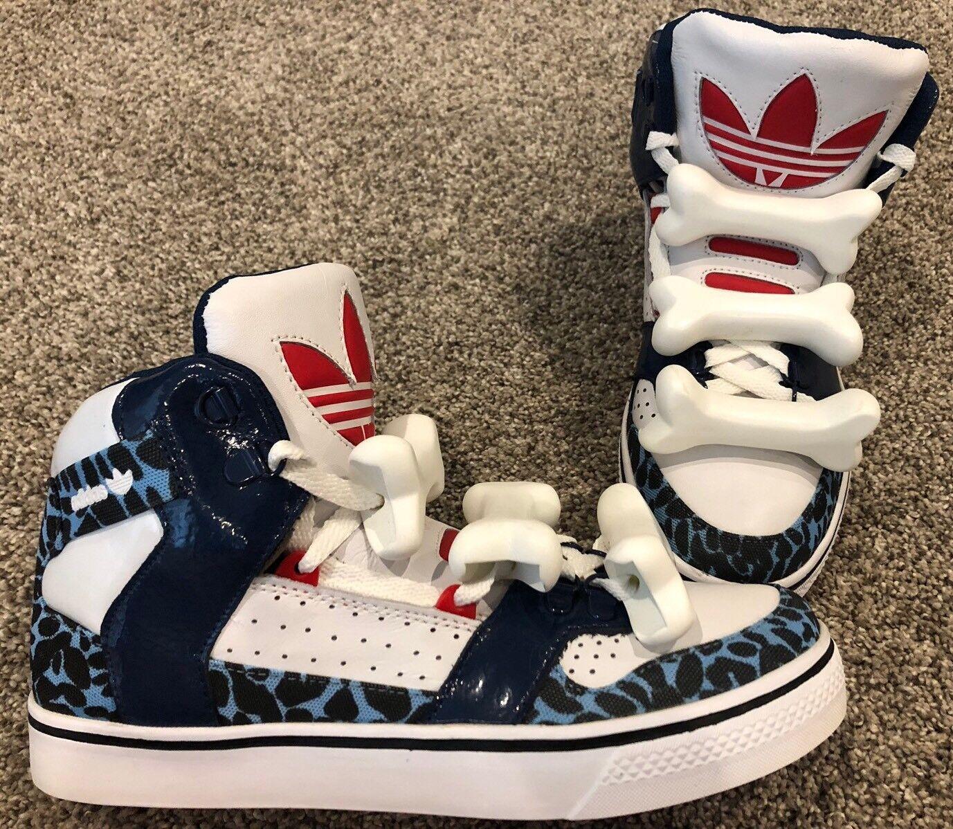 Adidas, edizione limitata di jeremy scott raro bones, misura 8,5, raro raro raro scott raro raro!!! 230b30