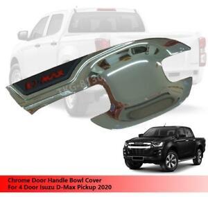 Chrome 4Dr Bowl Handle Insert Trim V2 Cover For  Isuzu D-max Dmax 4Dr 2012 2019