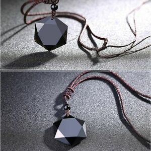 segen-maenner-glueck-schmuck-hexagramm-form-halskette-obsidian-anhaenger-amulet