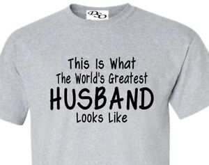 50a01034 Worlds Greatest Husband T Shirt Fathers Day Gift - 16 Colors Size SM ...