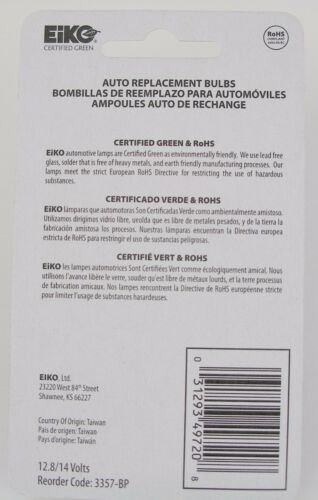 BOX OF 20 Tail Light Bulb Standard Lamp Blister Pack Rear//Front Eiko 3357-BP