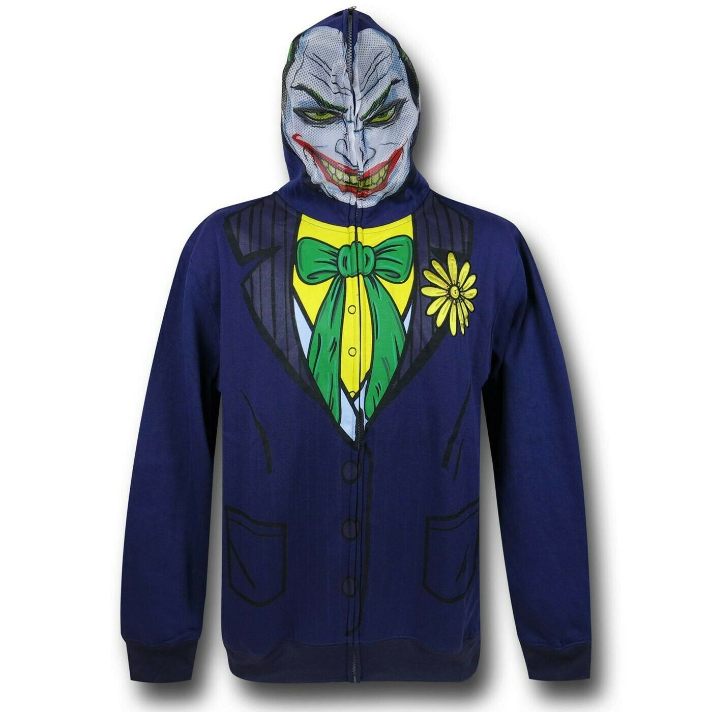 Joker Face Costume Zip-Up Hoodie lila