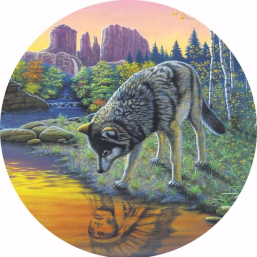 Wolf #3 Indian Reflections Spare Tire Cover Jeep RV Camper VW etc all sizes