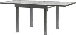 Table de jardin DIPLOMAT 90-180 cm noir mat-argenté alu Table ...