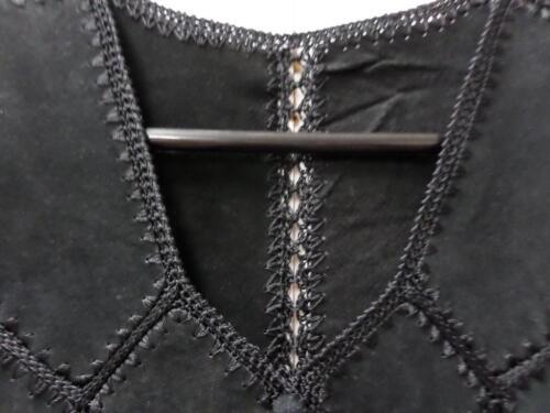 Vintage Black Waistcoat Ladies Vintage 32 32 Waistcoat Ladies Crochet Crochet Black fgdxqwA