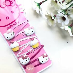 Hello Kitty Assorted Designs Kids Hair Ties and Hair Clips