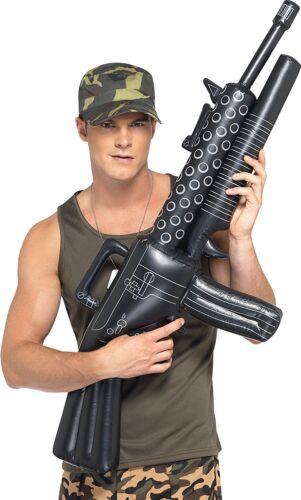 Inflatable Machine Gun Adult Unisex Smiffys Fancy Dress Costume Accessory Army