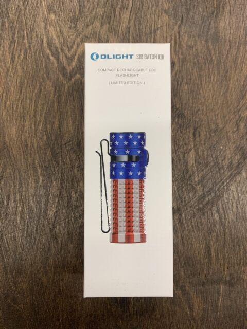 Olight S1R Baton II 1000 Lumens Rechargeable Flashlight Patriotic Edition Sealed