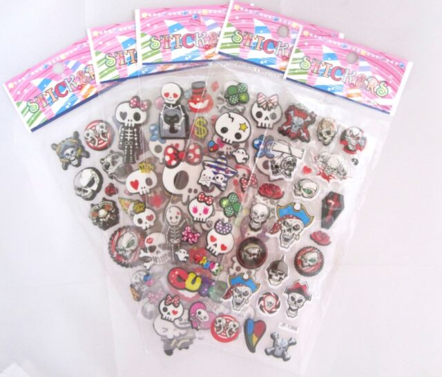 Bones, Skeletons and Skulls Sticker Sheet (Your Choice of Design)~KAWAII!!