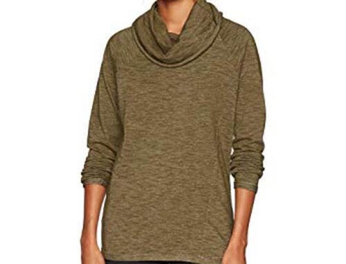 O'Neill Women Moss Cowell Neck Pullover Sweatshirt (S) Olive