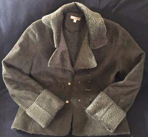 Ladies Dark Coat Olive Leather Wilson Large Size gFgw7UpR