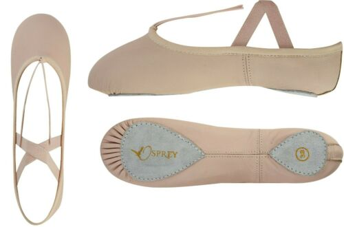 Ballet Dance Shoes Goat Leather Upper with Split Suede Leather sole.