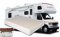 12 Inch Queen Rv Camper Memory Foam Mattress Medium Firm Usa Made 2 Free Pillows
