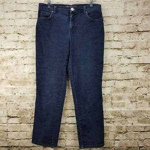 19d12aa3a5f Image is loading Gloria-Vanderbilt-Womens-Jeans-Size-8-Short-Blue-