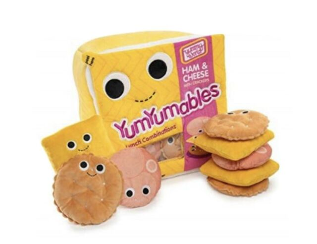 Yummy World YumYumables Ham & Cheese Plush Lunchable Rare! - with tags