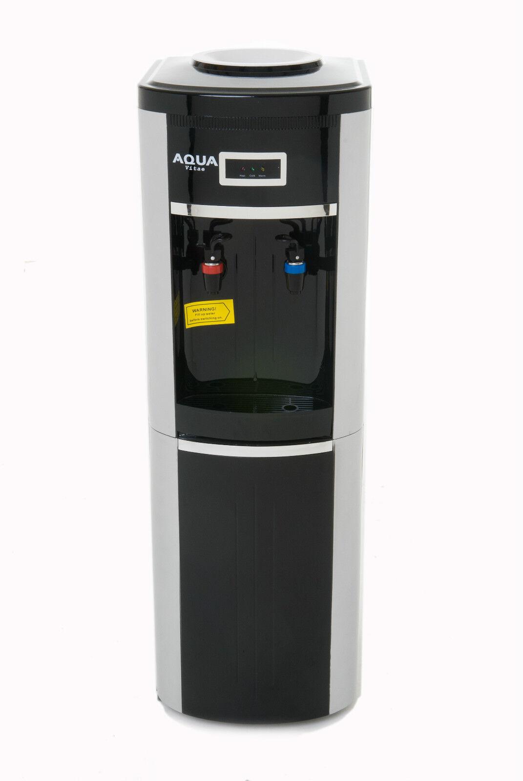 Hot And Cold Water Cooler Dispenser Black Bottled Hot Cold Water Cooler Dispenser Storage Cabinet