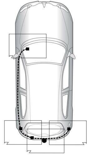 AutoHak gancio di traino per ALFA ROMEO 147 00-10 rimovibile specifico per 13pol