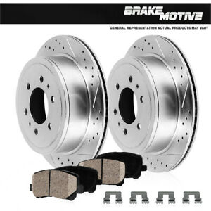 Rear-Drill-Slot-Brake-Rotors-And-Ceramic-Pads-Kit-For-QX56-Nissan-Armada-Titan