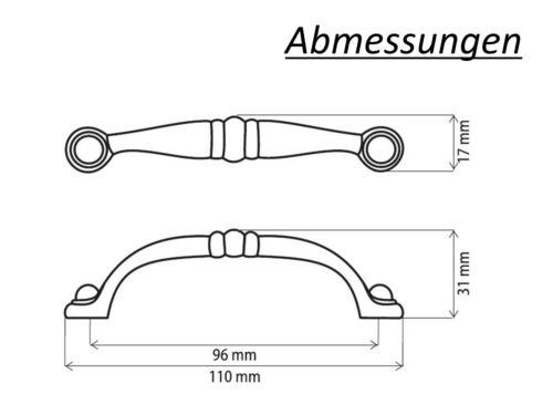 SCHWARZ MATT ★ 96mm Retro Antik Möbelgriff Griff Beschläge Bogengriff  //U004CZ//