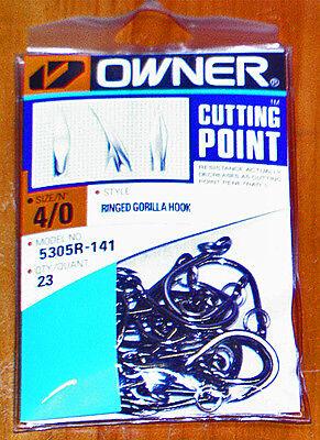 Owner Gorilla Pro-Pack Ringed Hooks Size 3//0