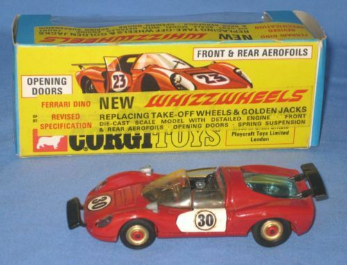 Corgi Whizzwheels 344 Ferrari Dino #30 decal set only pre-cut