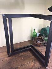 1 set of Raw-Steel Chevron Metal Dining Table Base Legs DIY Handmade