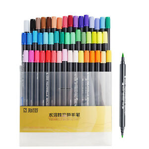 STA-48-Colors-Dual-Tips-Water-Soluble-Marker-Pen-Non-toxic-Colored-Crush-Marker