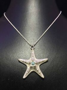 Star-Pendant-925-Sterling-Silver-Necklace-Chain-Women-Jewellery-Valentine-039-s-gift