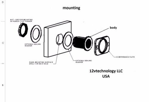 Extra Loud Piezoelectric Tone Beep Signal Alarm Alert 12V Marine Socket Panel