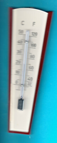 Cream Thermometer 4.33 inch Made in Germany Original 1950s Antique Vintage Red