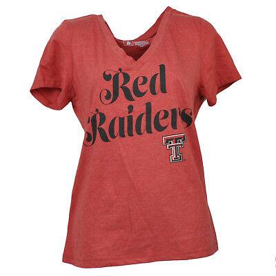 Fanartikel Ncaa Texas Tech Rot Raiders V-ausschnitt Damen Kurzärmelig T-shirt Damen Sport NüTzlich FüR äTherisches Medulla Weitere Ballsportarten