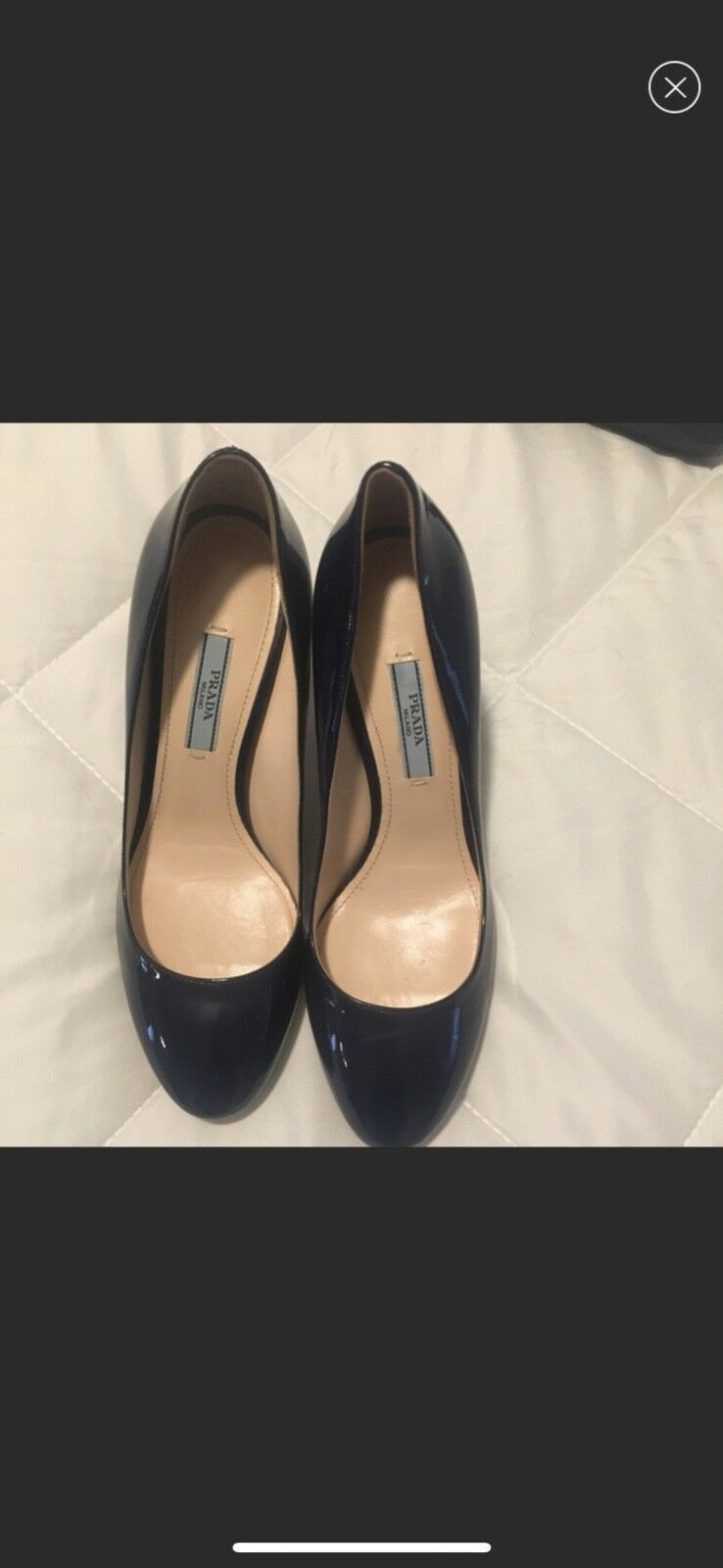 Prada Navy bluee Patent Patent Patent Heels - great condition 635a44