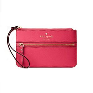 Kate Spade MIKAS POND BEE RADISH WALLET Purse Clutch Wristlet Accessories NEW