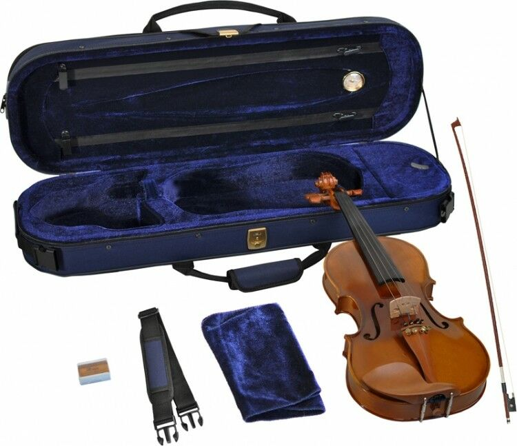 Geige Violine Kinder Schüler Bogen Kolofon Koffer 3 4 Buchsbaumgarnitur 10-11 J.