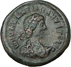 VALENTINIAN-II-378AD-Authentic-Ancient-Roman-Coin-WREATH-i18377