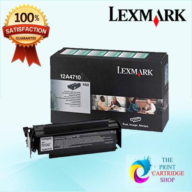 New & Genuine Lexmark 12A4710 Black Toner Cartridge X422MFP 6K Pages