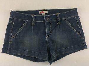 b94131542c9 FOREVER 21 Womens Size 26 Distressed Blue Denim Jean Short Shorts