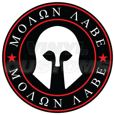 "3"" Molon Labe Decal Sticker Dont Tread On Me Gadsden Flag Vinyl Decal Red"